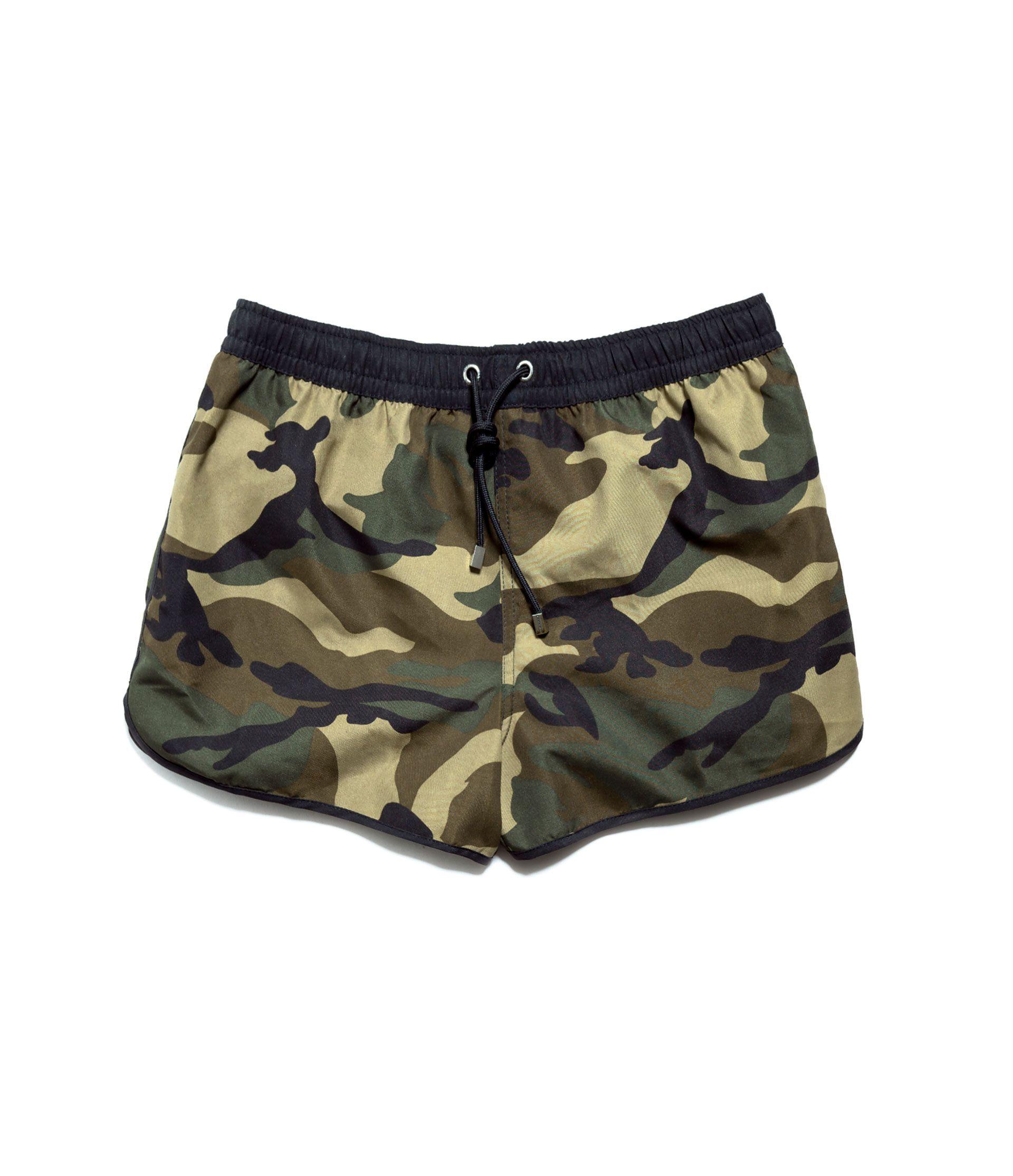 CAMOUFLAGE SWIM SHORTS - Swimwear - Man - ZARA United States ...