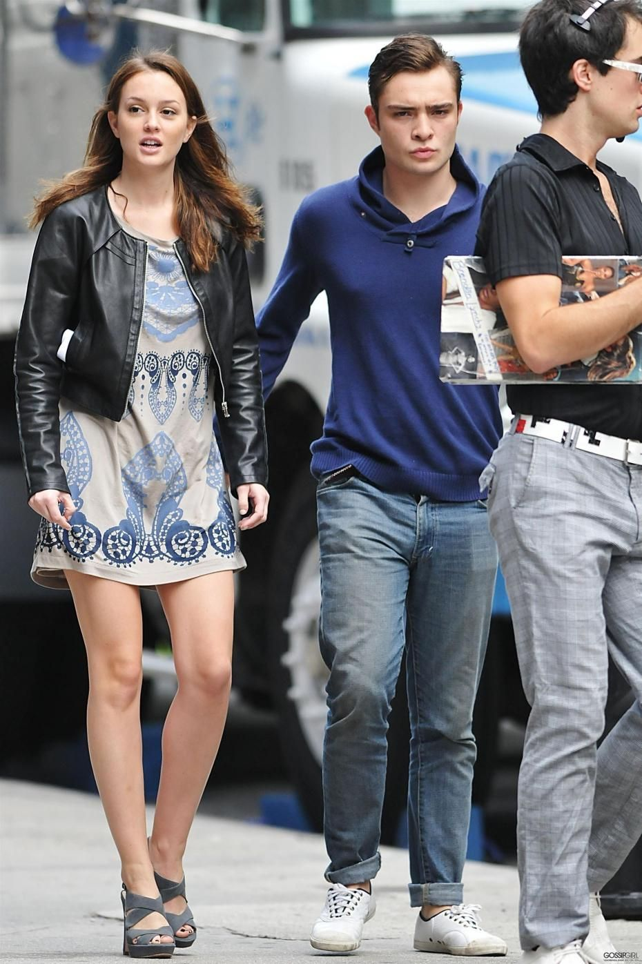 Meester leighton and ed westwick photos
