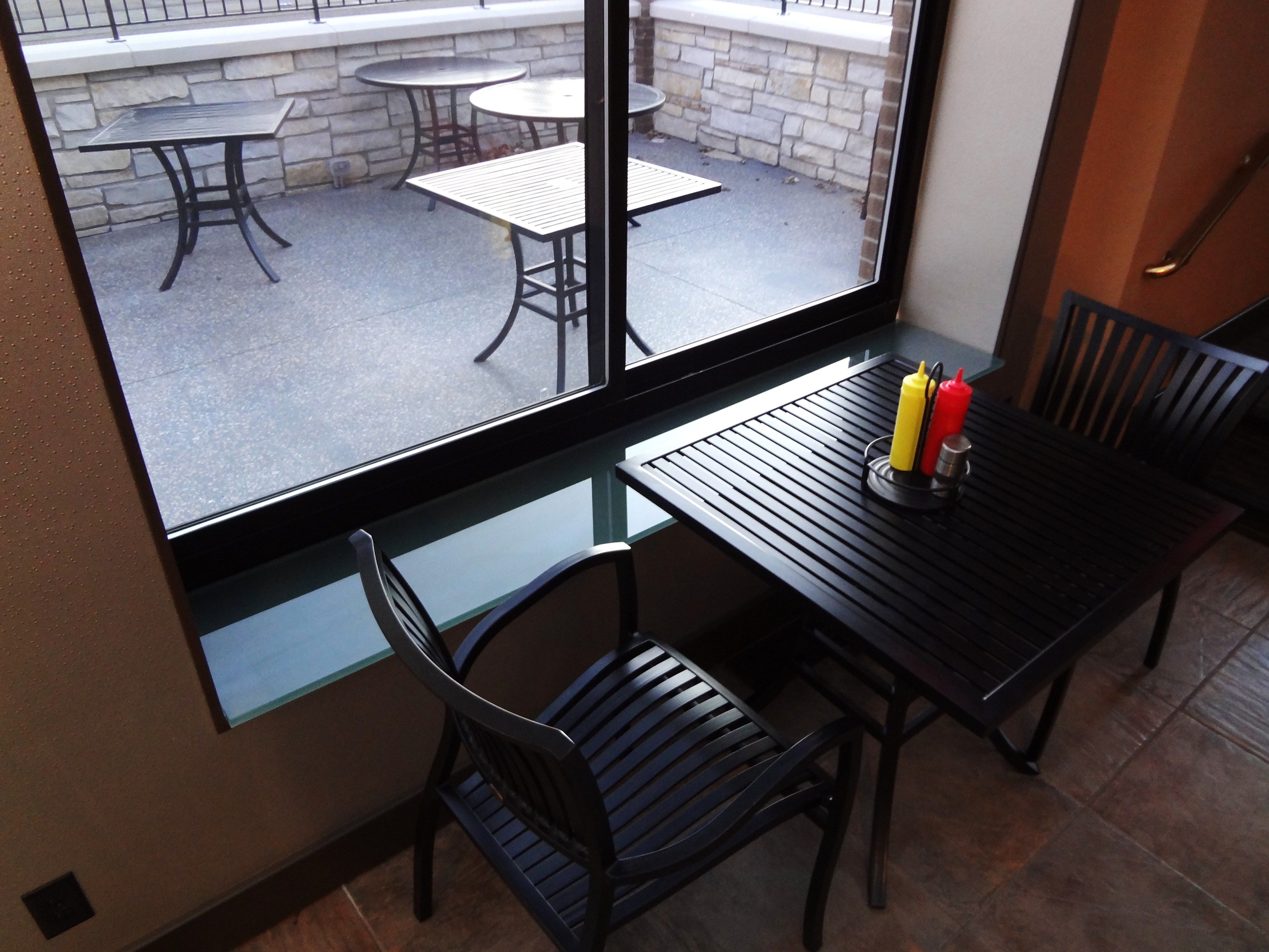 """Glass Window Sill. 3/4"""" inch thick. Color: Custom. By Studio L. Glassworks"""