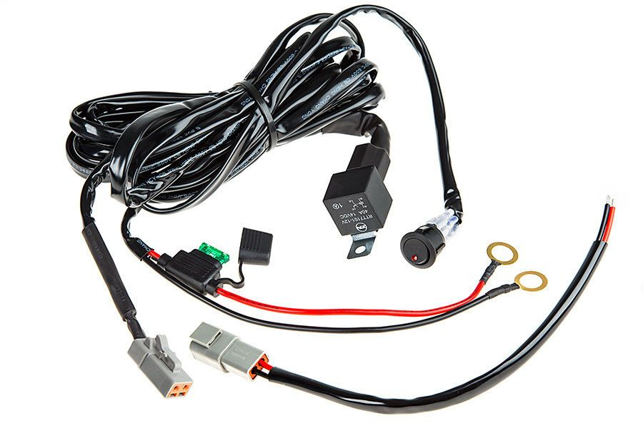 a39f6a320104c8c51ac6c69dfbfceb94 sbl led light wiring harness with switch and relay single Custom Automotive Wiring Harness Kits at metegol.co
