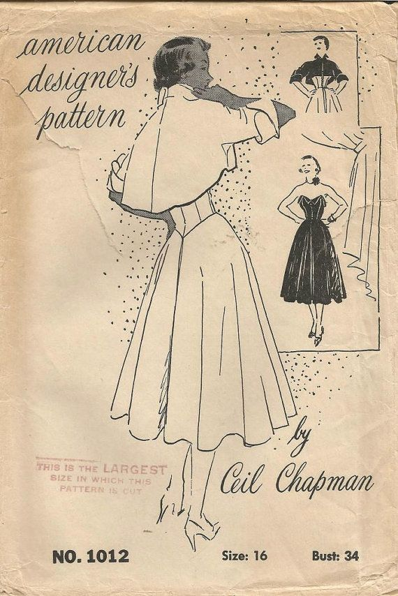 1950s Ceil Chapman Strapless Dinner Cocktail Dance by kinseysue ...