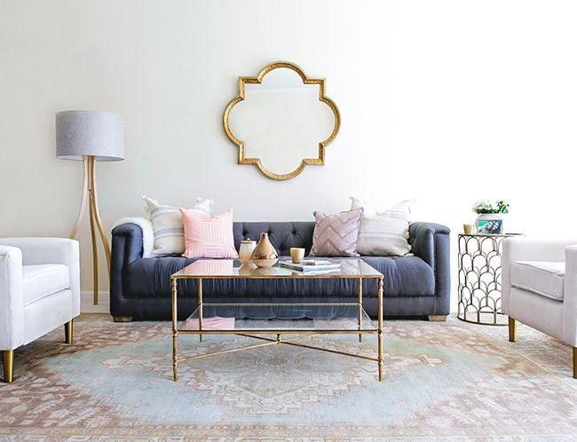 A Glam Bohemian Living Room Makeover