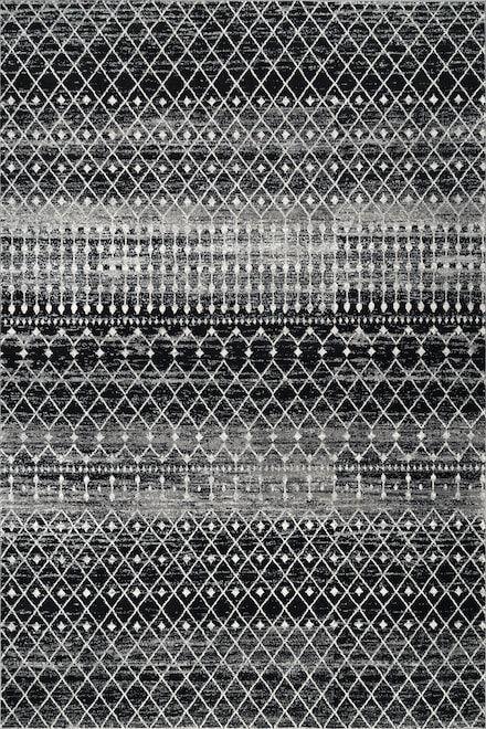 Rugs Usa Dark Gray Bosphorus Moroccan Trellis Rug