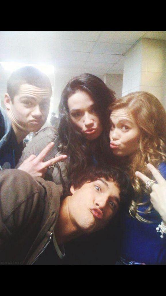 Scott,  Stiles,  Lydia and Allison.