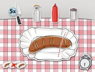 Nadine's Sketchbook Blog: »Curry Up« - Game for Berlin's new Currywurst Museum
