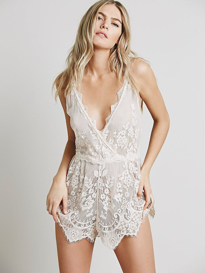 Intimately Lacey Day Romper at Free People Clothing Boutique