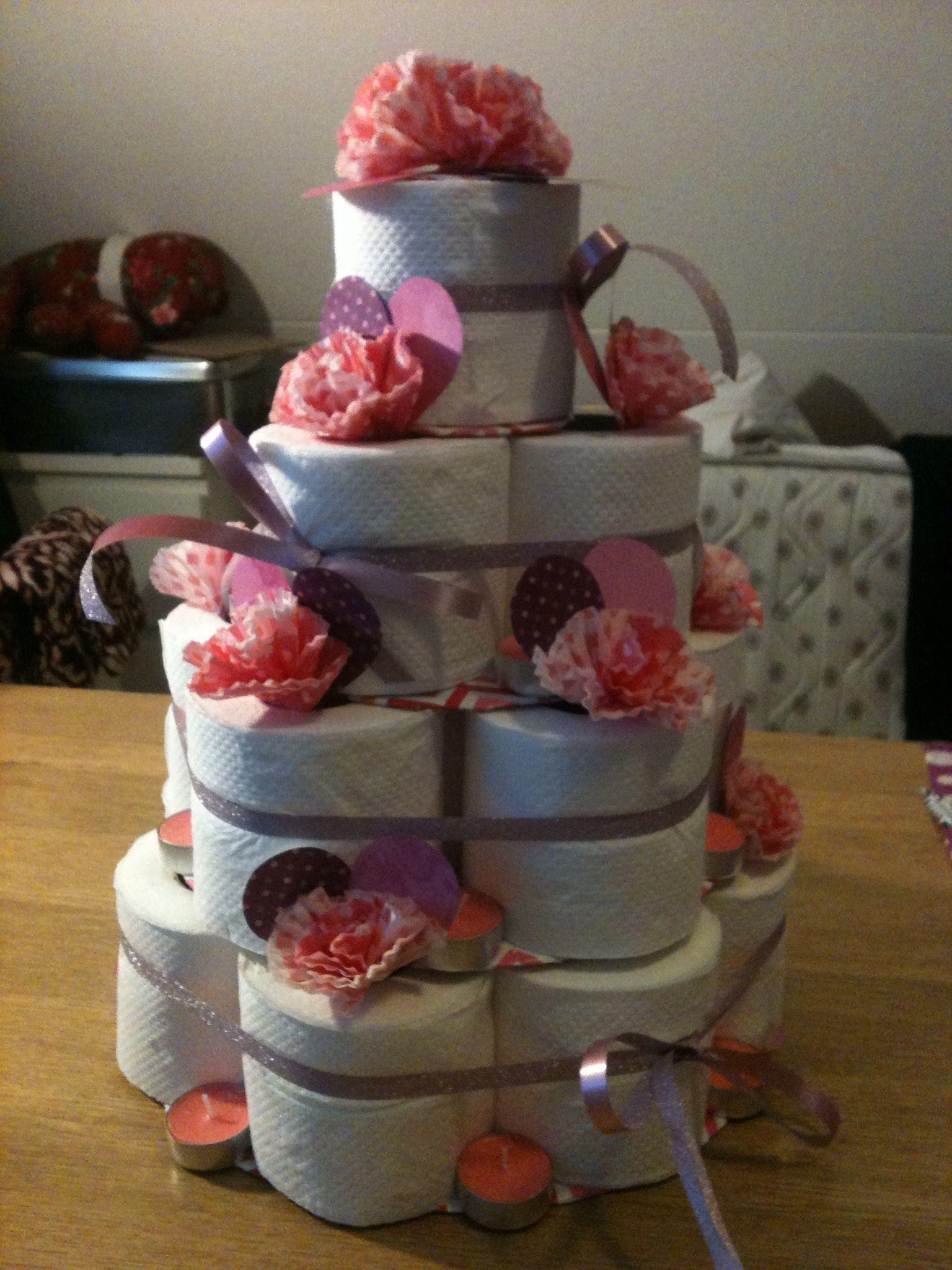 rol taart Wc rol taart voor een bruiloft gemaakt. | Home made | Pinterest rol taart