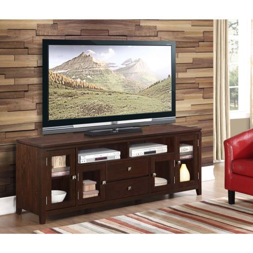 Auburn Brown 72 Inch Wide Tv Media Stand Entertainment Units Tv