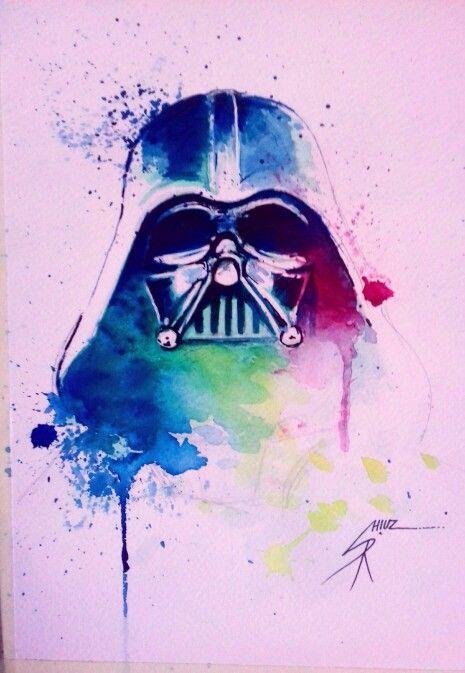 Darth Vader Acuarela Watercolor Acuarelas Watercolor In