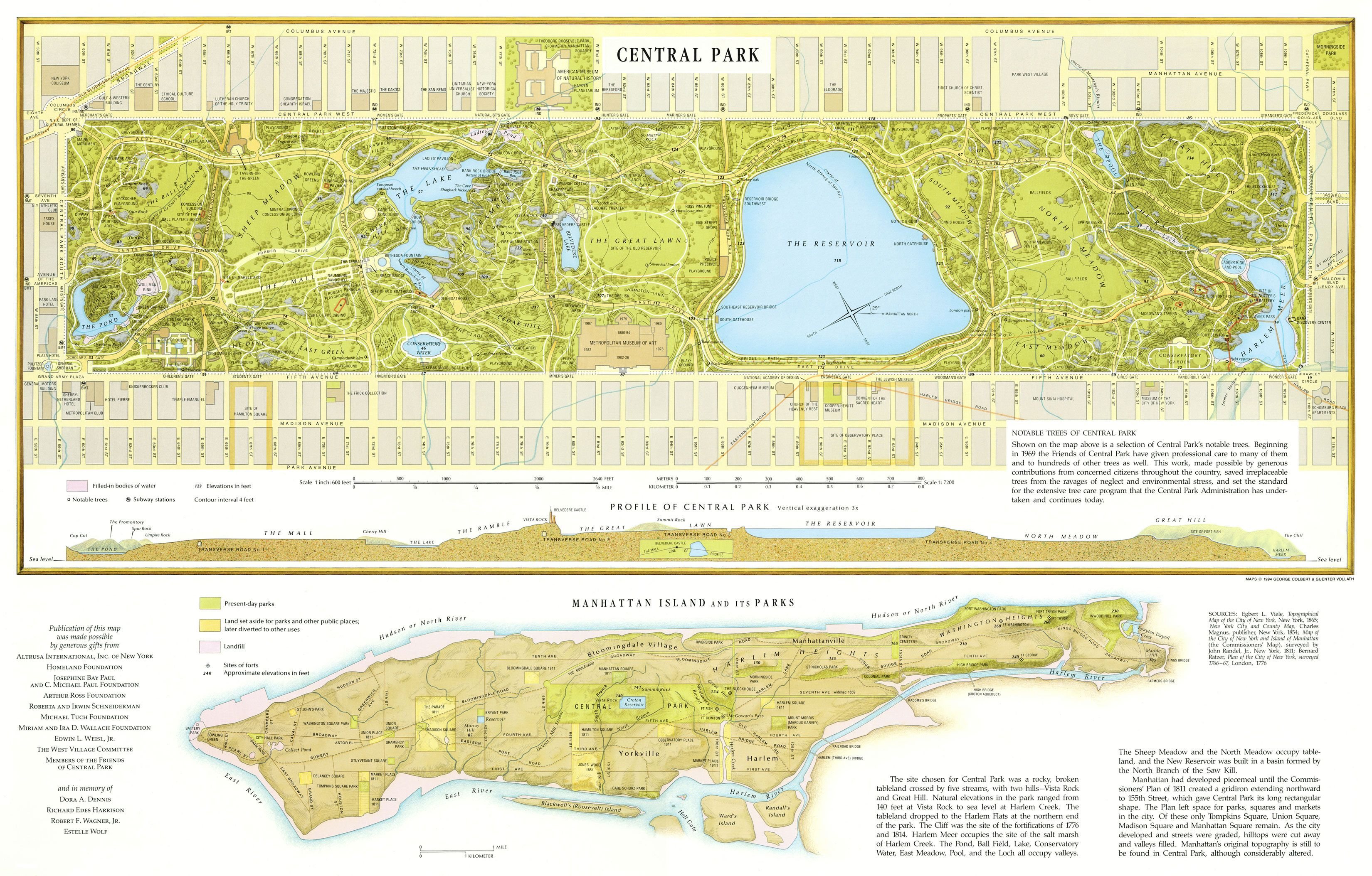 Central Park Map New York NY  Mappery A Great Detailed High - Nyc radar map