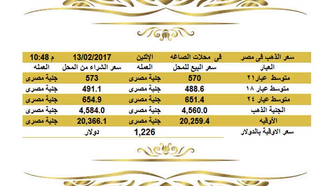 سعرالذهباليومفيمصرالاثنين1222017عيار21وعيار18وعيار24الساعة11 00مساء اسعار الذهب اليوم فى مصر تحديث يومي اسعار الذهب فى مصر أسعار الذهب الي Gold Rate Jye Gold