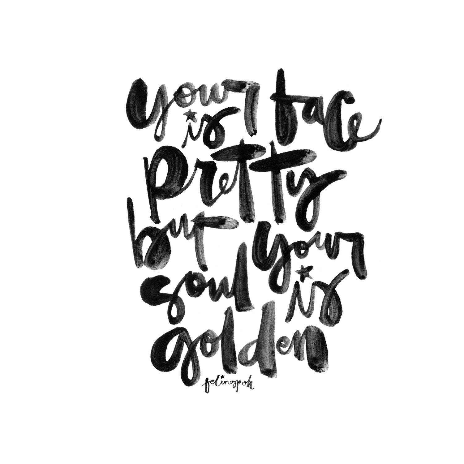 Calligraphy lettering quotes instagram felingpoh