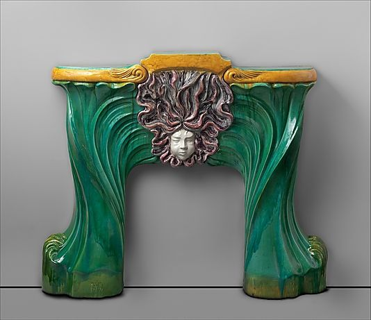 "Fireplace surround Art Nouveau is an artistic sylve applied to art, architecture and design. It is french and translates as ""New Art"". It focuses on images from nature and on curves and lines."