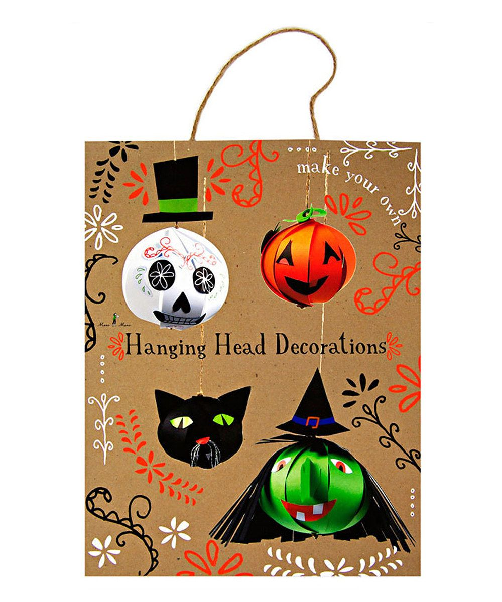 Take a look at this Halloween Head Decoration Craft Set on zulily - cute halloween decoration ideas