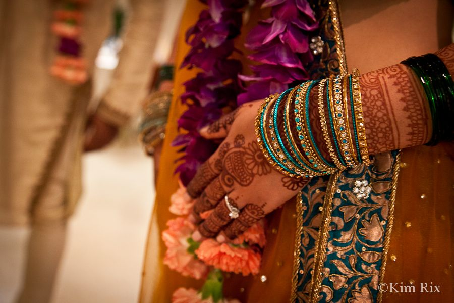 The Hindu bride's jewellery. Natural reportage wedding photography by Kim Rix.