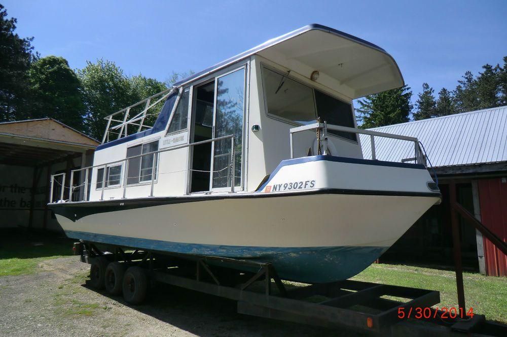 3000 In Ebay Motors Boats Powerboats Motorboats Trailerable Houseboats House Boat River Boat