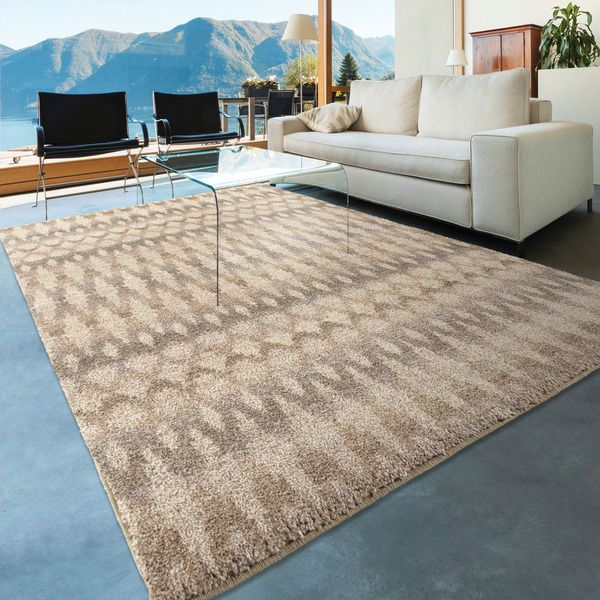 7X7 Area Rugs For Dining Room Carolina Weavers Dignified Shag Collection Fused Ikat Ivory Shag