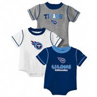 Titans onesies for our nephew!