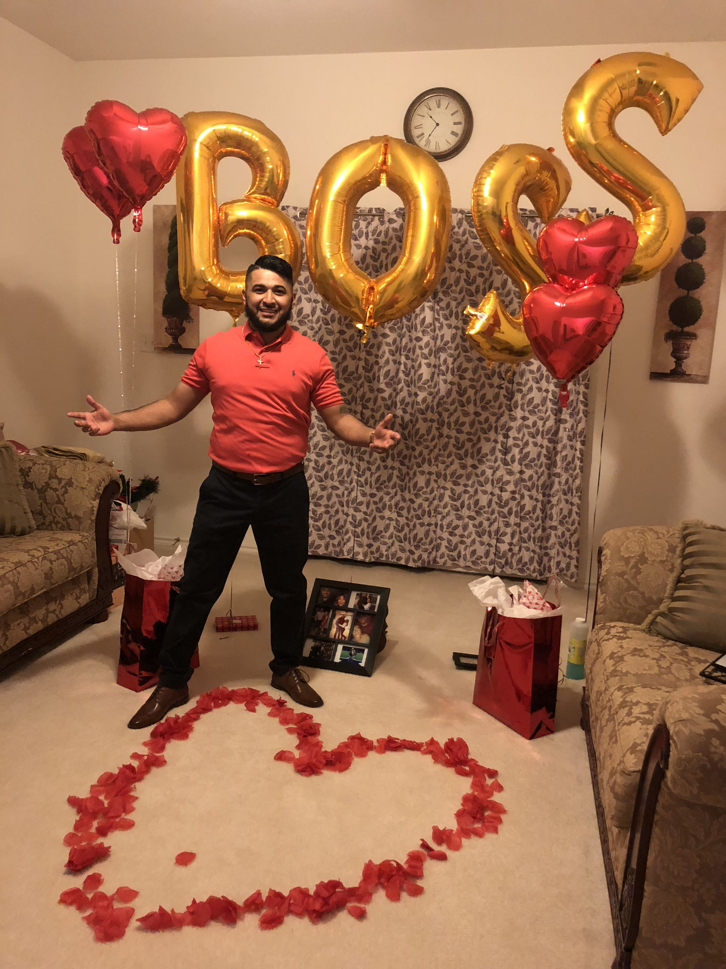 When you surprise your boyfriend for his birthday ️ #