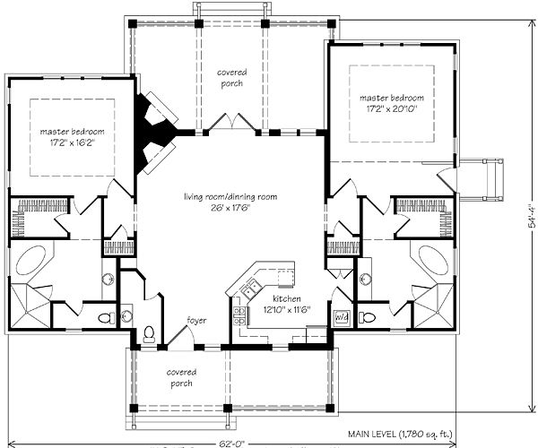 Two Master Bedrooms & Baths. Now We're Talkin!