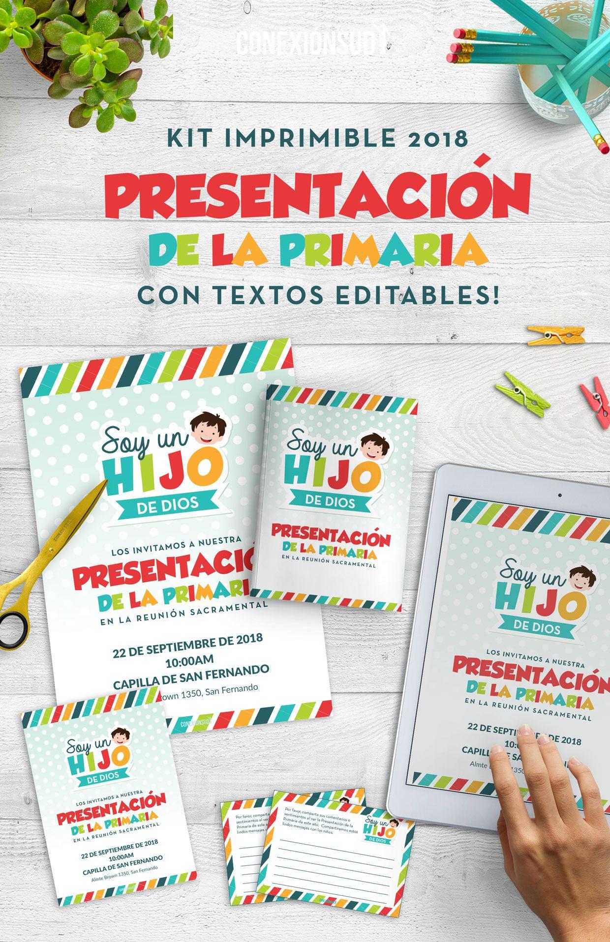 Imprimibles Presentación de la Primaria 2018 | soy sud | Pinterest ...