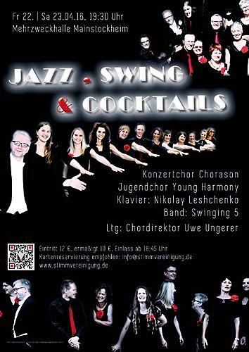 Plakat zum Konzert Jazz, Swing und Cocktails 2016