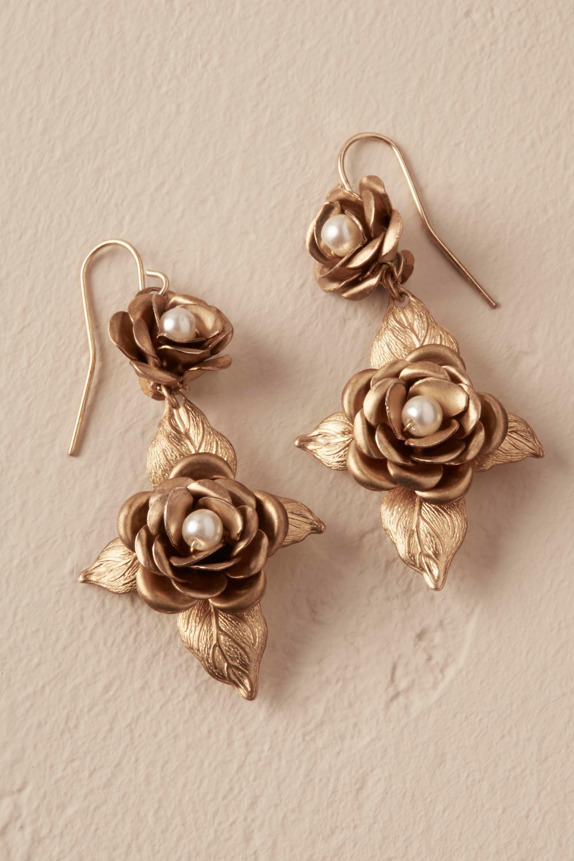 Lilla rosette earrings from bhldn wedding trinkets pinterest