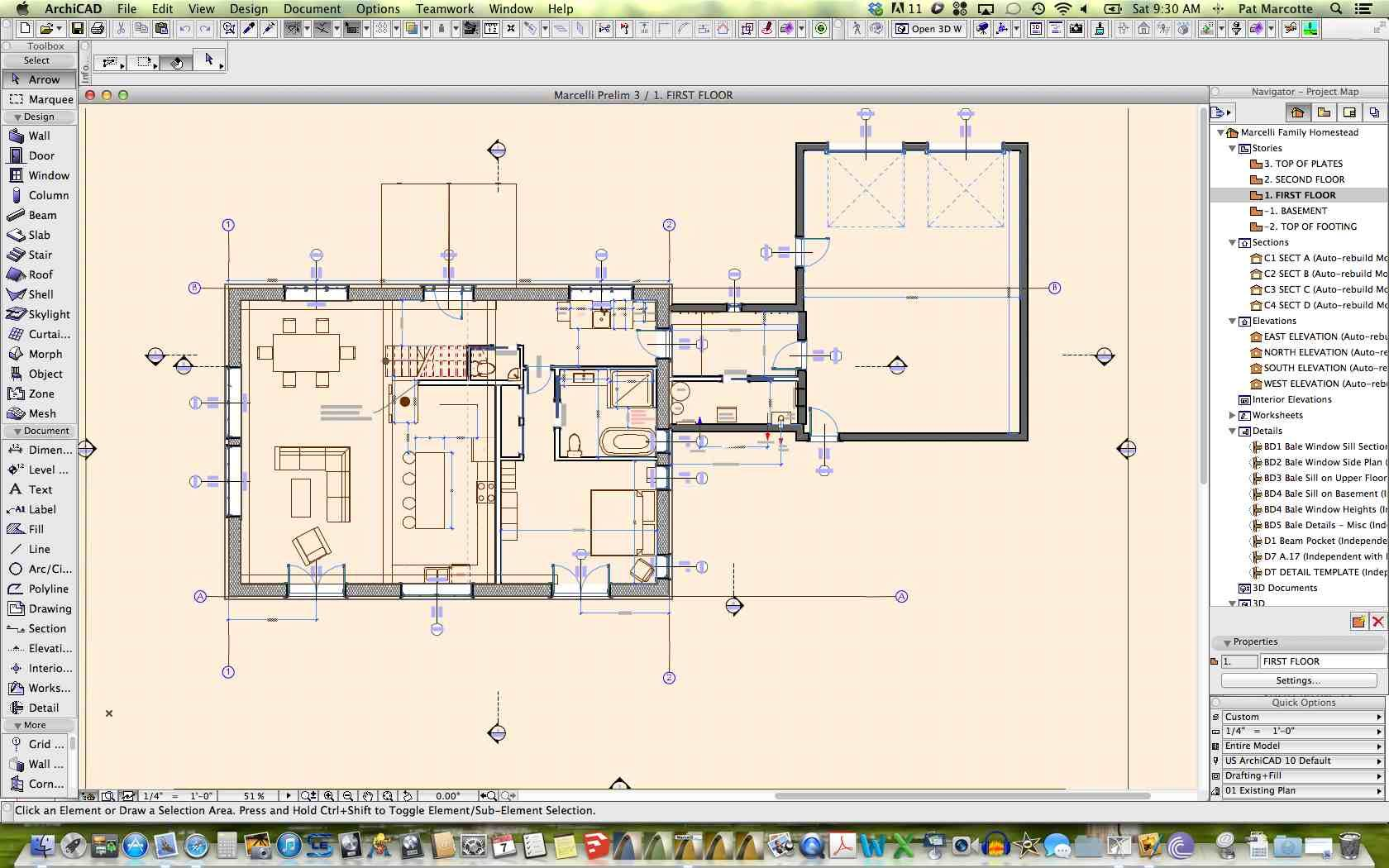 Havencraft design portfolio floor plans in archicad