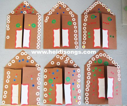 Gingerbread house art activities
