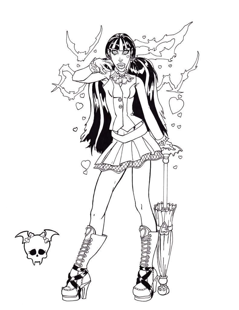 Monster High Coloring Pages to Print For Free  Monster high