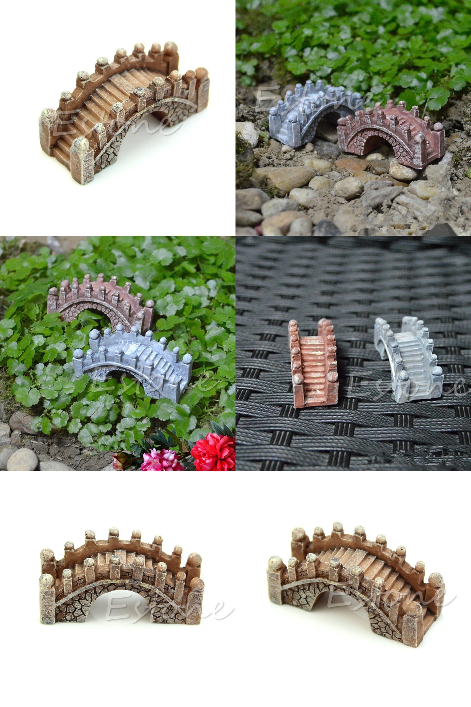 Visit to buy mini bridge miniature landscape fairy garden terrarium