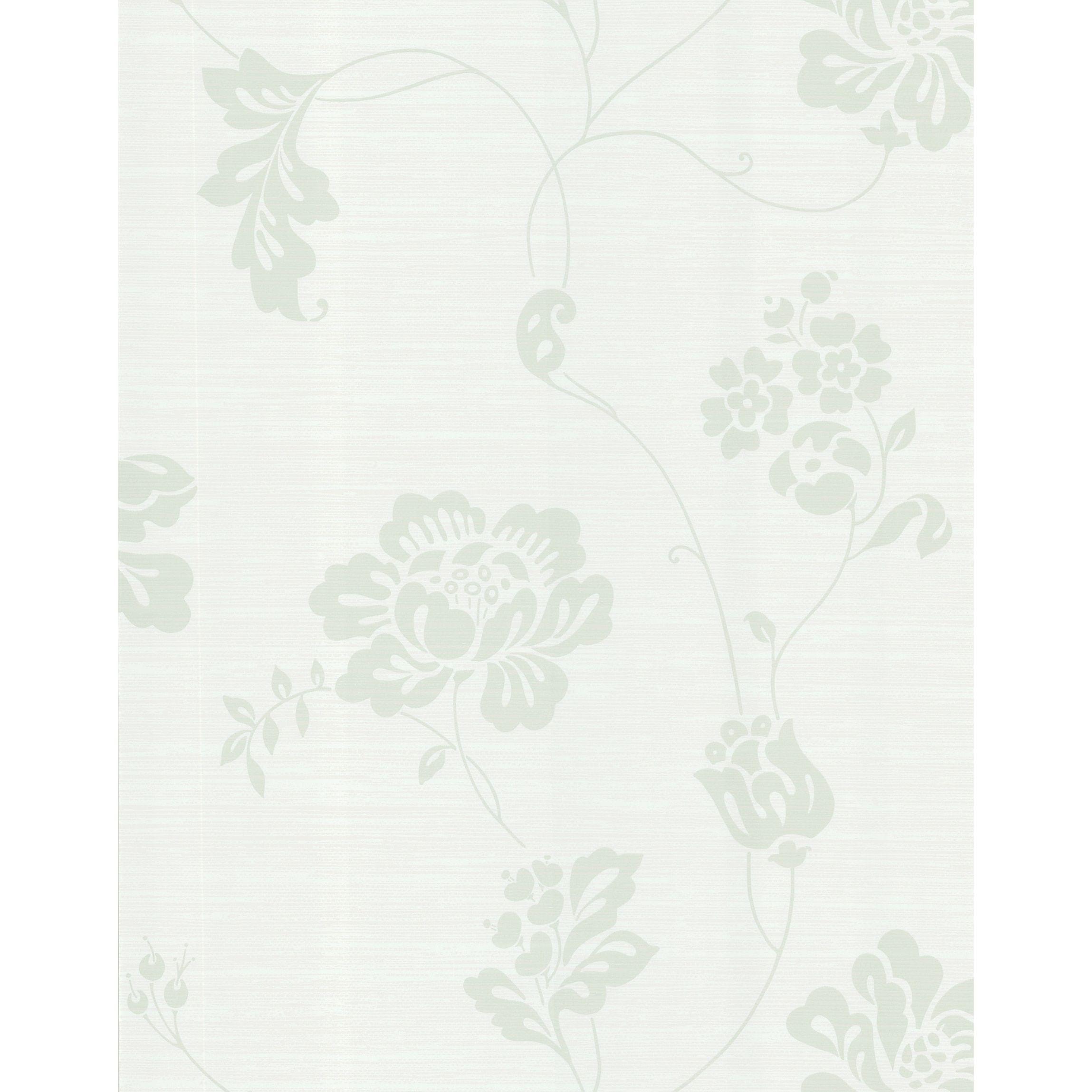 Brewster Light Green Floral Nonwoven Wallpaper