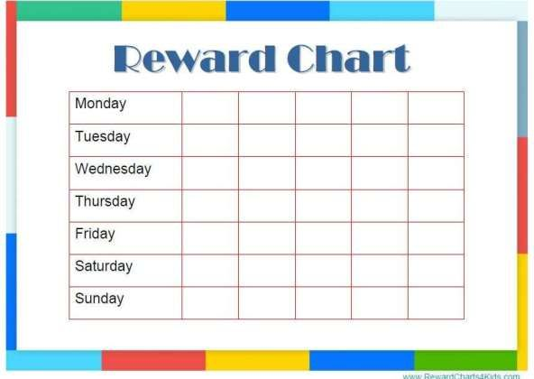 Reward Chart Templates Word Excel Fomats With Images Good