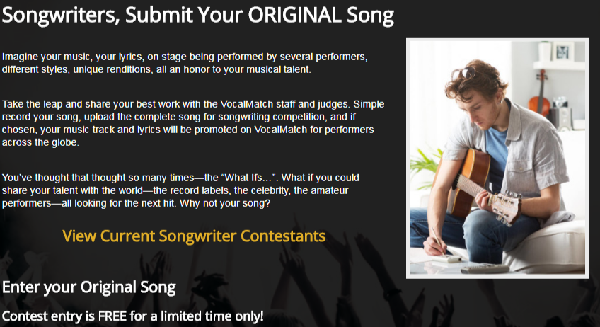 Share your best work and submit your song for review on