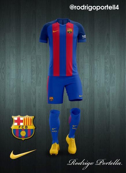 fc barcelona home kit 2016