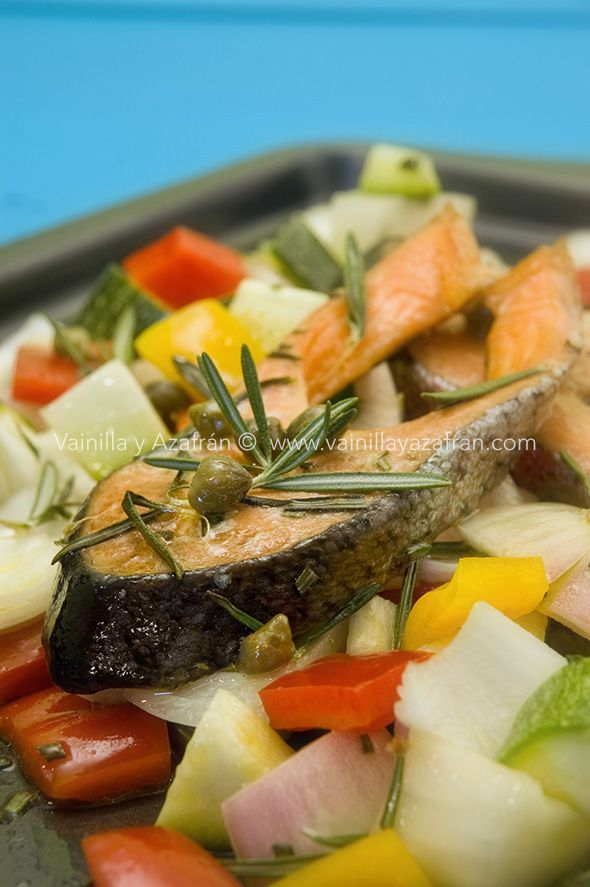 Salmón Horneado Con Romero Y Vegetales Recipe Baked Salmon Healthy Recipes Food