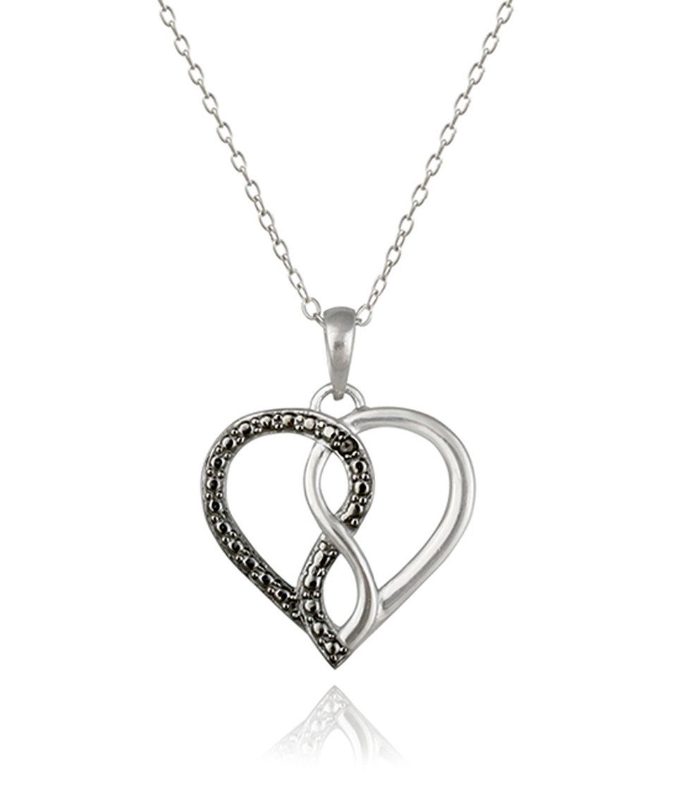 Look what I found on zulily Black Diamond Infinity Heart Pendant