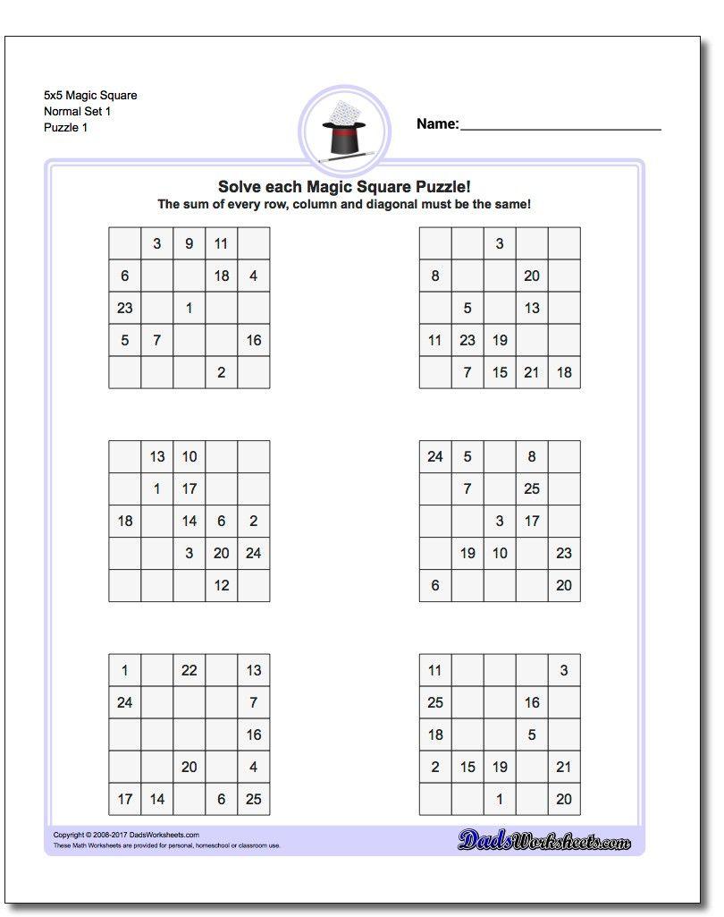 Pin By Lauren Shipley On Teach Math Magic Squares Logic Puzzles Magic Squares Math [ 1025 x 810 Pixel ]