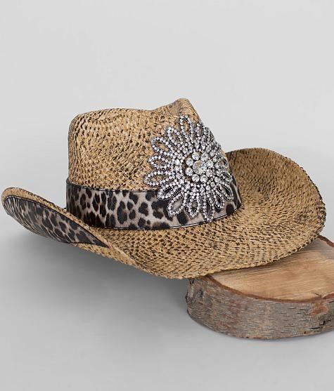 25a43a0cdc2f2 Olive   Pique Leopard Cowboy Hat - Women s Hats