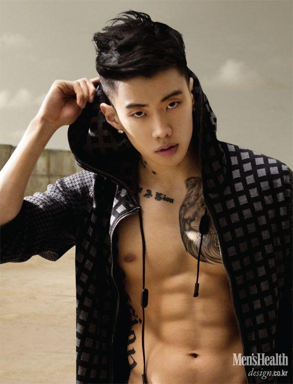Asian shaved model