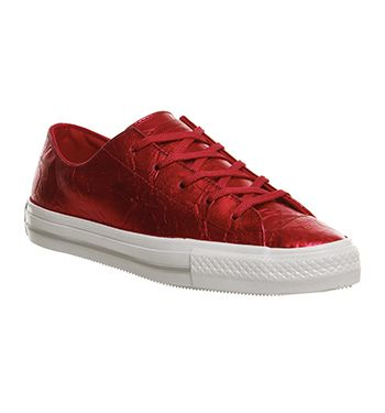 Converse Ctas Gemma Low Leather Ruby Foiled Exclusive Hers Trainers