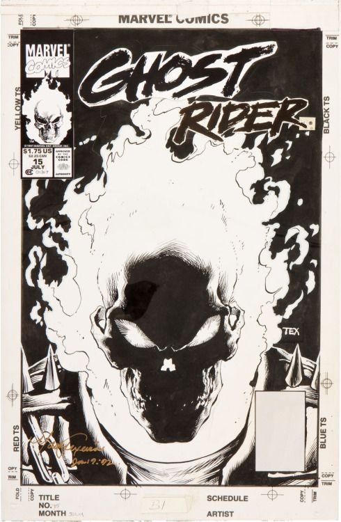 travisellisor:  the cover to Ghost Rider #15 by Mark Texeira  Man, I love this cover!