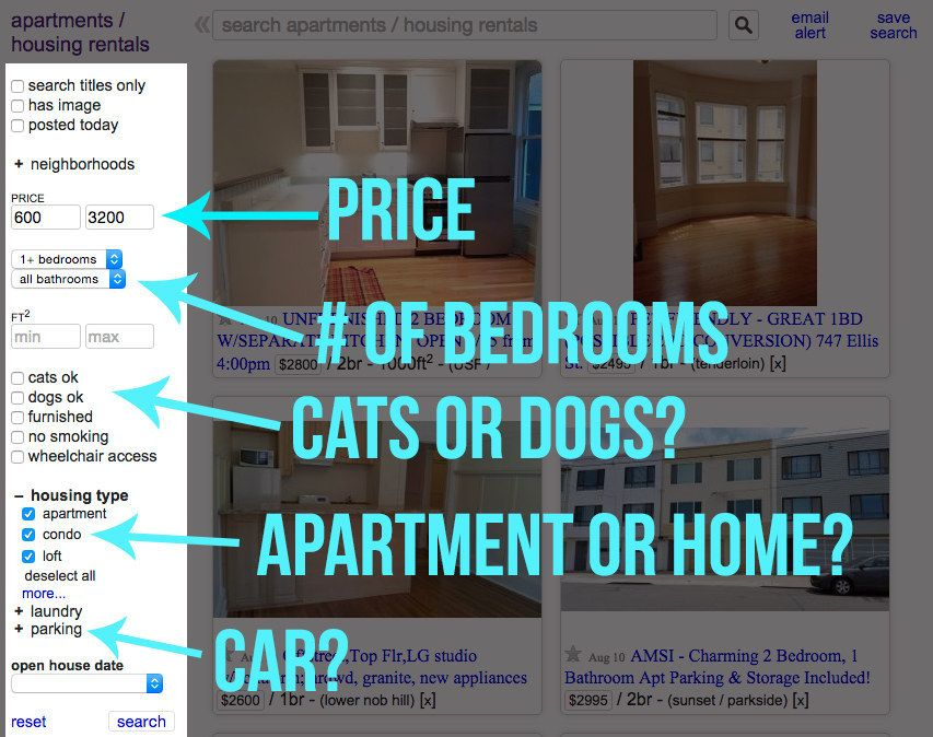 This Easy Craigslist Hack Will Help You Find An Apartment With Images Finding Apartments Apartment California Dreaming