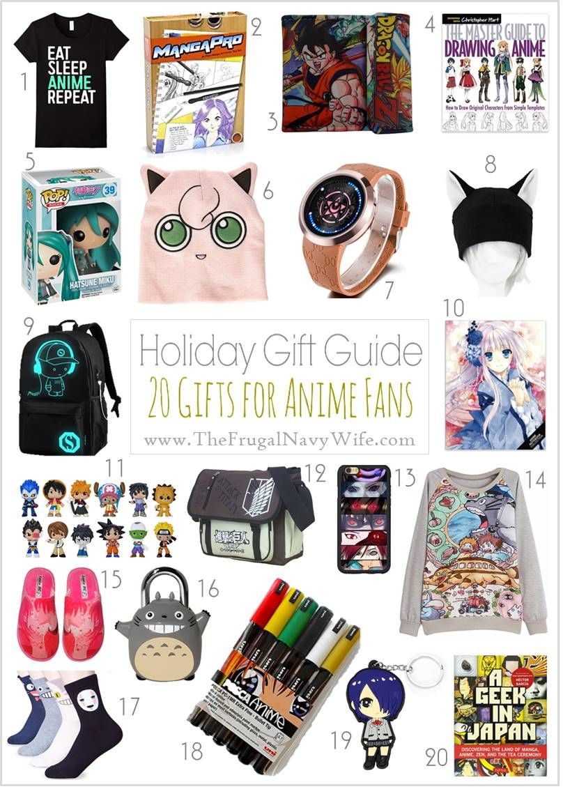 Holiday Gift Guide Gifts For Anime Fans Anime Gifts Birthday