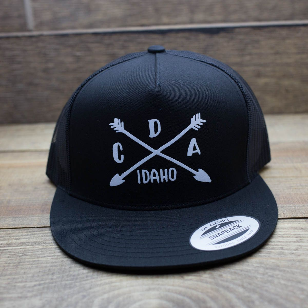 Black CDA Camping Logo Trucker Hat (With images) Trucker