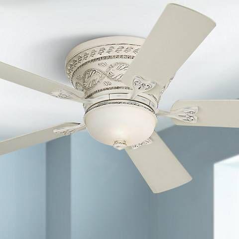 White Hugger Ceiling Fan