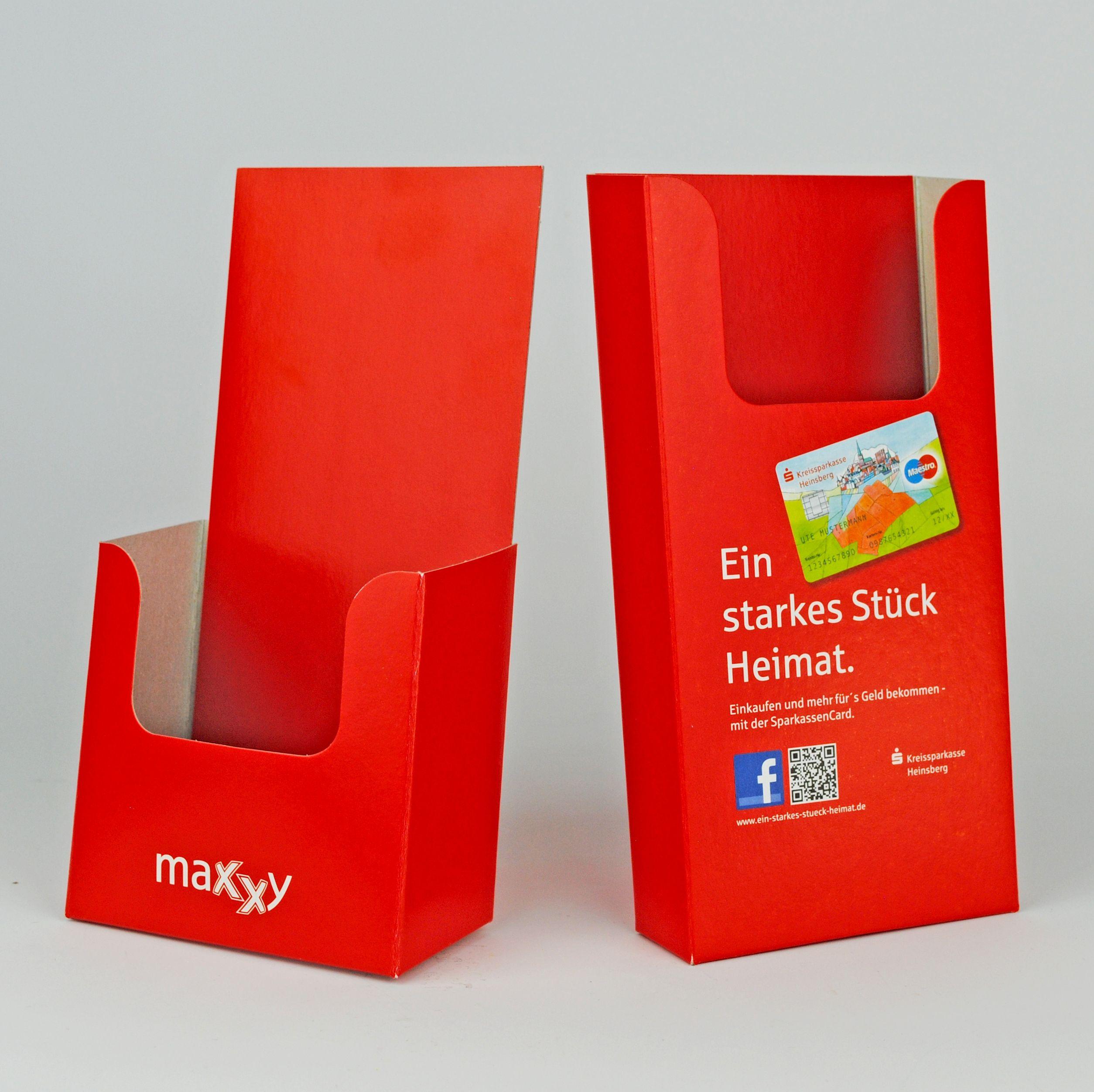 Spender für gefalzte Flyer und Folder für die Verkaufstheke ...