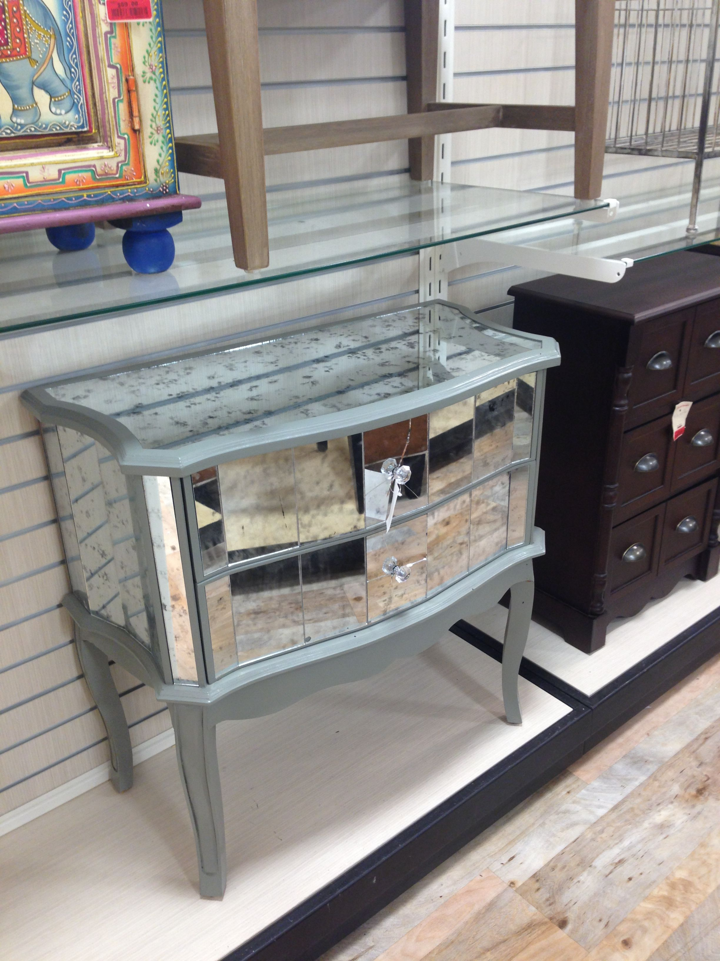 Mirrored Console Cabinet Home Goods Mirrors Buffet Sideboard