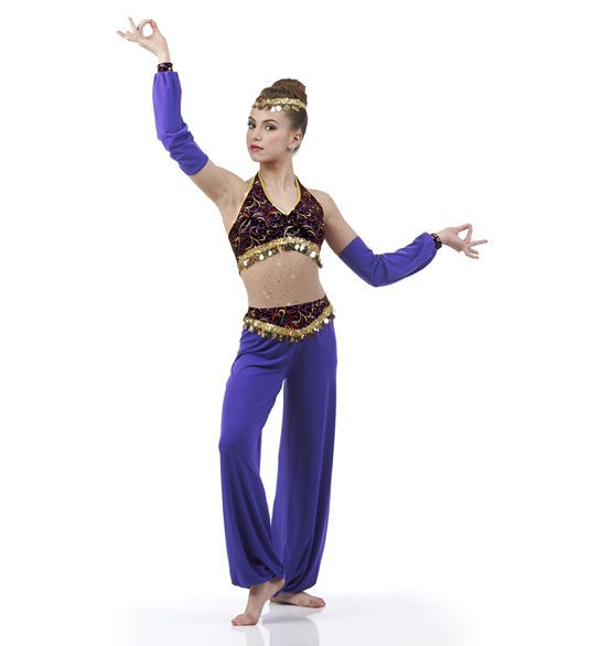 Arabian Jumpsuit Genie Christmas Nutcracker Dance Costume Child ...