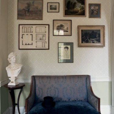 Rousham walled garden new shop by range wallpaper for Home wallpaper fired earth